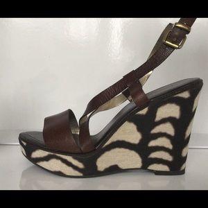 Banana Republic platform wedge sandals